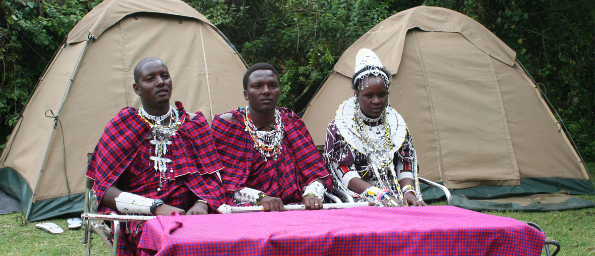 maasai cultural with tents
